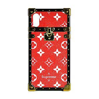 Monogram eye-trunk de cas de téléphone pour l'iPhone 7+ (rouge)