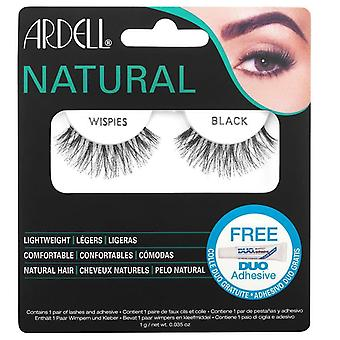 Ardell Wispies Fake Lashes - Wispies Black - Natural Hair Falsies cu DUO Glue