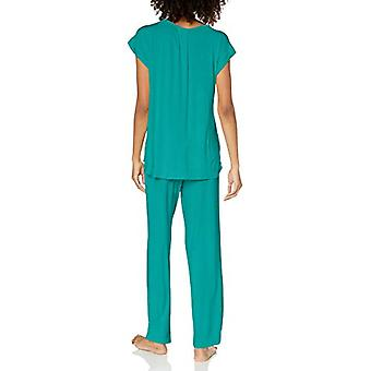 Brand - Arabella Women's Sleeveless Pyjama Set, Peacock, Small