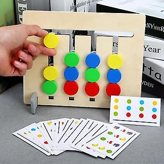 Puinen Montessori Lelu Neljä Väri / Hedelmät Kaksipuolinen Matching - Peli Looginen päättely Koulutus Lasten koulutus lelut lapsille (monivärinen)