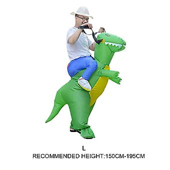 Inflatable Animal Dinosaur Halloween Party Costume - Three Dimensional Rideable Dinosaur Mount Dress