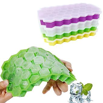Summer Honeycomb Shape 37 Cubes Ice Tray Ice Cube Mold Storage Containers