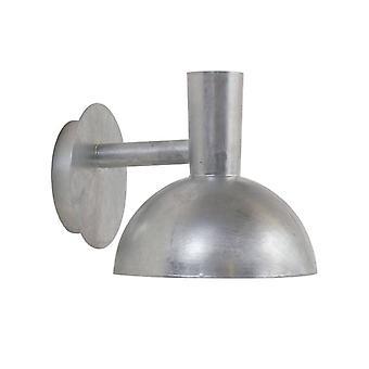 1 Lichte Outdoor Half Dome Downlight Galvanised IP54, E27