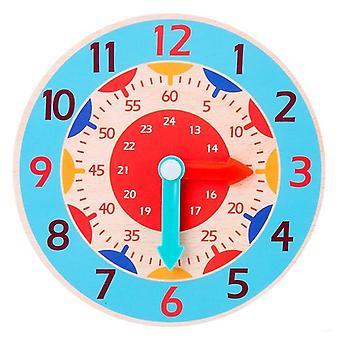 Montessori Puinen kello - tunti, minuutti, toinen kognitio opetus apuvälineet
