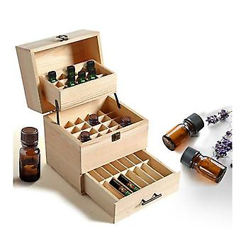 Essential Oil Storage Box Wooden Slots Aromatherapy Container