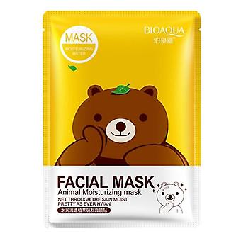 Cartoon Animal Moisturizing Face Facial Mask, Fresh Anti-acne Plant, Extract