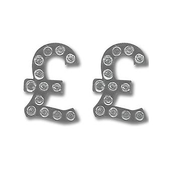 Ties Planet Pound Sign With Crystal Stones Novelty Cufflinks