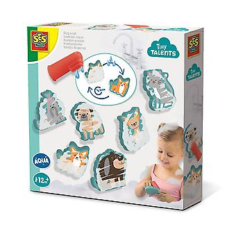 SES Creative Children's Tiny Talents Aqua Dog Wash Bath Toy Set (13084)
