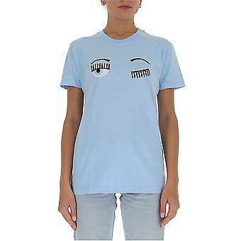 Chiara Ferragni Cft057lbl Femmes-apos;s Light Blue Cotton T-shirt