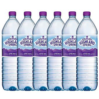 6 x 2 Ltr Highland Natural Still Spring Water Screw Cap Drink Healthy Hydrate