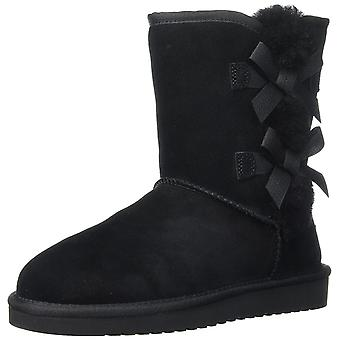 Koolaburra by UGG Womens Victoria Short Leather Round Toe Mid-Calf Cold Weather Boots