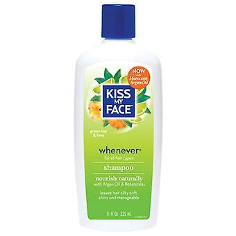 Kiss My Face Whenever Shampoo, Green Tea & Lime, 11 Oz