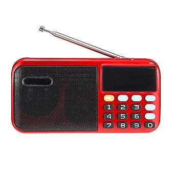 Portable FM 70-140Hz Radio TF Card Music Player 2.1 Channel Speaker