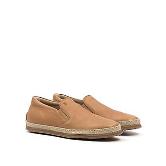 Slip-on Tod's Leather Hazelnut With Rope Details