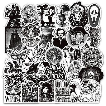 Adesivo de vento gótico preto, adesivo de terror e grafite de suspense