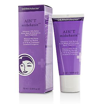 Ain't misbehavin' intensive skin clarifying sulfur acne mask 174278 70ml/2.3oz