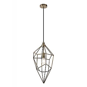 Byrne Large Pendant, 1 X E27, Antique Brass