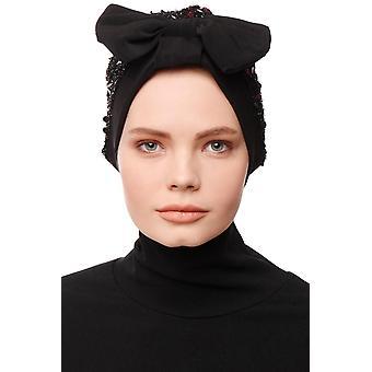 Enfleda - Černý a černý turban