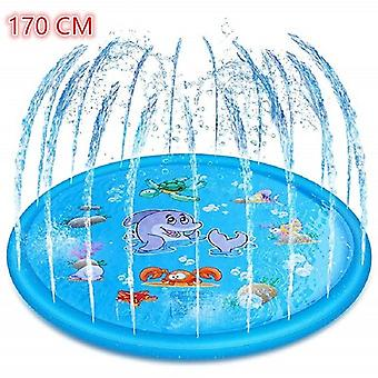 "170cm Summer""s Outdoor Play Water Games Beach Mat Lawn- Inflatable Sprinkler"