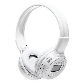 Zealot B570 Wireless Headphones with LED Display and FM Radio - Bluetooth 5.0 Wireless Headphones Stereo Studio White