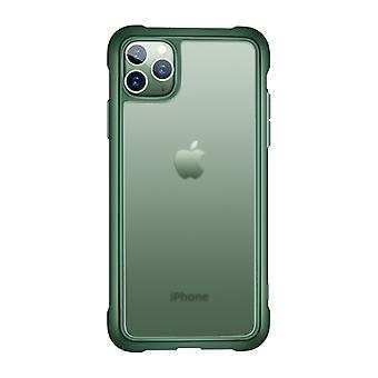 עבור iPhone 11 Pro מקס JOYROOM מקלארן סדרה שקוף סיליקון חלבי + PC מגן מקרה (ירוק)