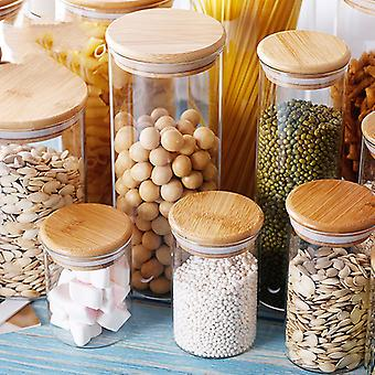 Candy Jar Glass Jars Spices Glass Transparent Container With Lids Cookie Jar Kitchen Jars And Lids