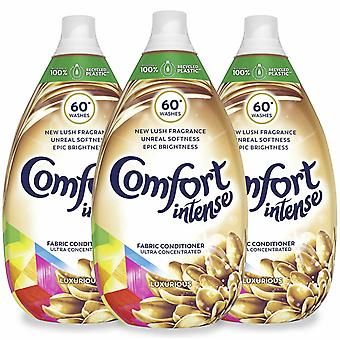 Comfort Intense Luxe Fabric Conditioner, Pack van 3, 60 Washes, 900ml