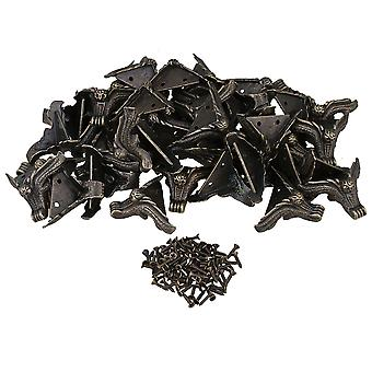 80PCS Antique Corner Owl Foot Type Corner Protector for Wooden Boxes Chest
