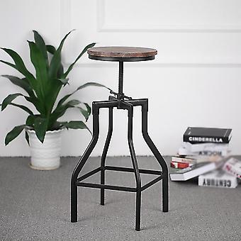 Altura Ajustável Swivel Bar Stool /cadeira de jantar de cozinha metálica