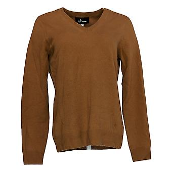 Soft by NAADAM Women's Sweater 100% Cashmere Essential V-Neck Brown A370915