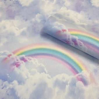 Glitter Rainbow Wallpaper Blue Belgravia 3610