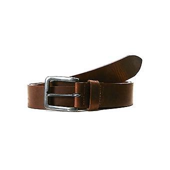 JACK & JONES Herren Leder Gürtel JACVICTOR Leather Belt Echtleder Metallschnalle