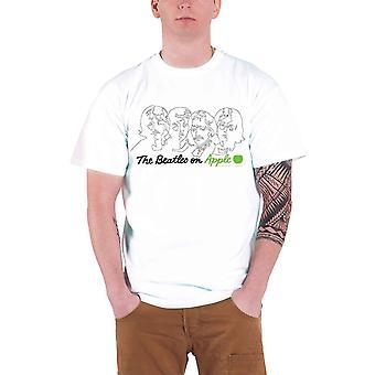 חולצת T הביטלס לוגו הלהקה על אפל רשמי Mens ניו לבן