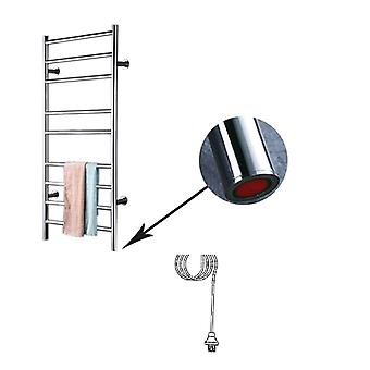Stainless Steel, Wall Mounted-chrome Plated Towel Holder And Heating Rail