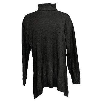 Linea door Louis Dell'Olio Women's Top Knit Swing Turtleneck Gray A268137