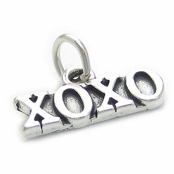 Xoxo Hugs And Kisses Sterling Silver Charm .925 X 1 Love Care Charms - 3797