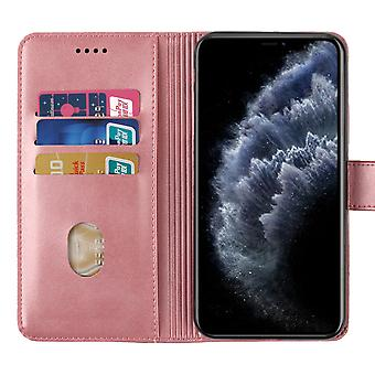 H-basics mobile phone cover for Huawei NOVA 5T case cover - with lock cap, stand function and card compartment