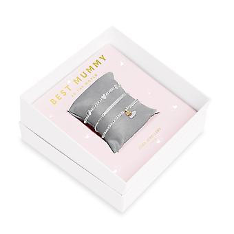 Joma مجوهرات هدية هدية مربع أفضل مومياء الفضة 17.5cm تمتد سوار 4281