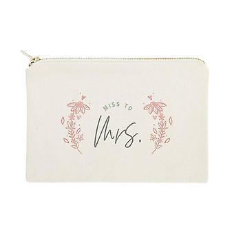Miss À Mrs.-cotton Canvas Cosmetic Bag
