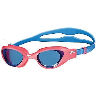 Arena The One Junior Swimming Goggles- Blue Tinted Lens - Red/Blue