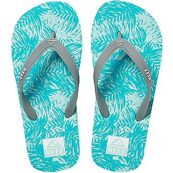 Reef Unisex Childrens Switchfoot Print Beach Sandalen Slippers Teenslippers - Aqua