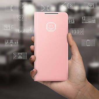Official Samsung LED View Cover Case for Samsung Galaxy S21 Plus - Pink