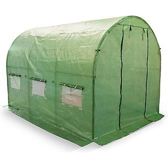 Garten Gewächshaus grün aus PE-Folie und Metall 200x300 cm Hobby Gewächshaus 6m2 Oberfläche
