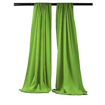 La Linen Pack-2 Polyester Poplin Backdrop Drape 96-Inch Wide By 58-Inch High, Lime