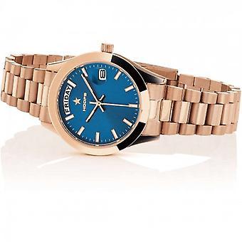 Hoops Luxury Steel Watch 2620l-rg04 Blue Rose Gold