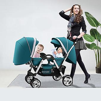 Twin Baby Stroller, Double Stroller Foldable Dolly Carts