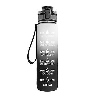 Large Water Bottle With Motivational Time Marker,removable Strainer