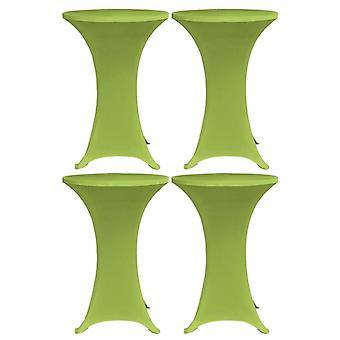 vidaXL Stretch-Table-hussen 4 pcs. 70 cm green