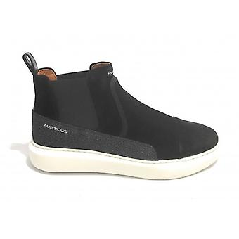 Men's Ambitios Sneaker 10813 Negru U21am20 Suede Slip-on