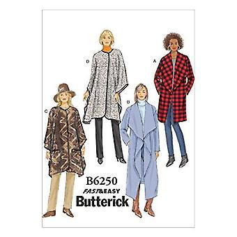 Butterick ompelu kuvio 6250 Misses Naisten Takki Takki Wrap Koko XS-MD 4-14
